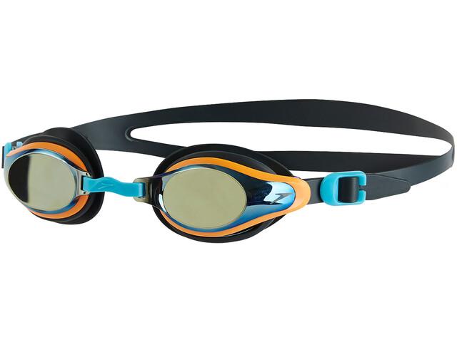 266c5619df speedo Mariner Supreme Mirror - Lunettes de natation Enfant - gris/orange